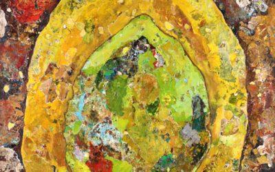 Lemon Lime – Original Contemporary Acrylic Painting by Clint Eccher