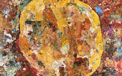 Peach – Original Contemporary Acrylic Painting by Clint Eccher